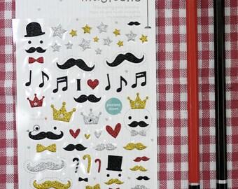 Korean Funny  Stickers - mustache