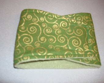 Green with gold swirls Belly Band - Male Dog Diaper - Dog Belly Band -  All Sizes Availalbe