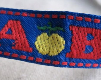 ABC school days Ribbon in Red and Blue