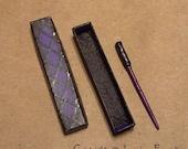 Purple Goth Wand and Box - 1 inch Dollhouse Miniature Scale