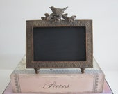Shabby Chic Chalkboard Frame Paris Chalkboard  Bird Chalkboard Paris Decor French Decor Chalkboard Frame Baby's Nursery Welcome Sign Spring