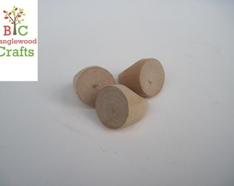 Unfinished Wooden Jewelry Rings - 3 in a set- Size 4.5 Great for kids