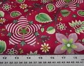 Benartex 4013 Winterscapes Red Floral