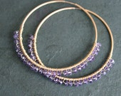 GINA Lilac Amethyst Large 14 kt Gold Fill Hoops