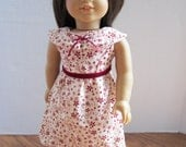 CLEARANCE 1950's style dress for American girl doll 18 inch--velvet and floral print