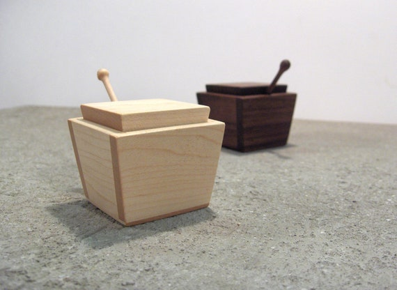 Walnut and Maple Salt and Pepper cellars