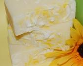 Lemon Cream Soap ~ PRICE REDUCED ~ All Natural Soap. Handmade. Body Bar. Citrus. Hot Process