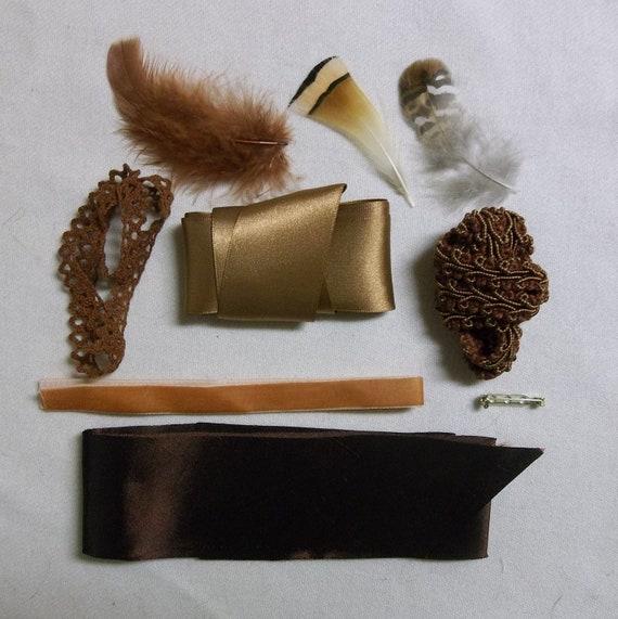 SALE! 25% OFF- Bonnet Trimming Kit- DIY- Copper
