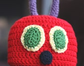 Crochet PATTERN - Hungry Caterpillar Hat - Instant download