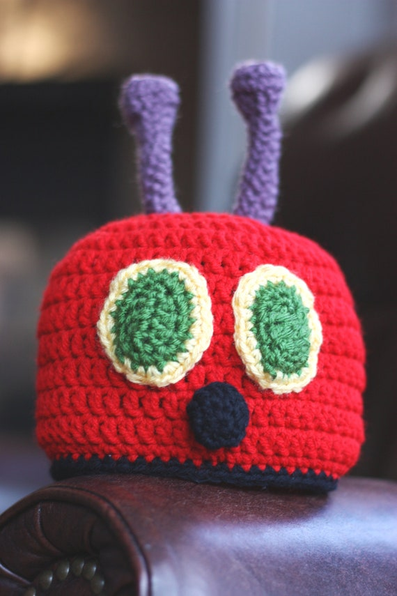 Crochet Caterpillar Hat Pattern : Crochet PATTERN Hungry Caterpillar Hat Instant by littlepunky