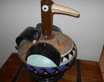 Sculpture in the shape of  a bird