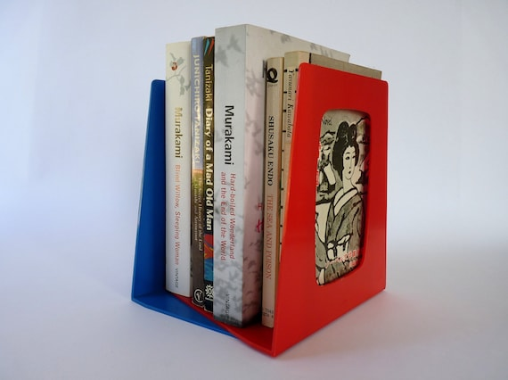 Retro 1970s Esselte Sweden Library Plastic Bookends