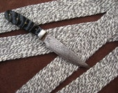 Woven Wool Strap Twisted Gray and Natural