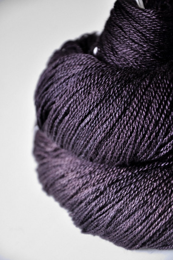 Freshly squeezed grapes OOAK - Silk/Merino Yarn Lace weight