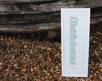 The Shipping Forecast Letterpress Print