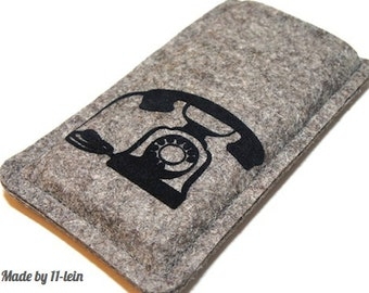 Felt sleeve for your phone with telephone