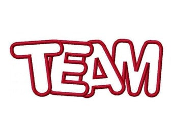 Team Embroidery Machine Applique Design 10571