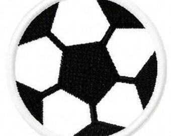 Soccerball Digital Embroidery Machine Applique Design 10615