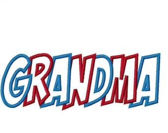 Grandma Embroidery Machine Applique Design 10651 Instant Download