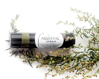 Absinthe Lip Balm - organic lip moisturizer in a black recycled-plastic tube