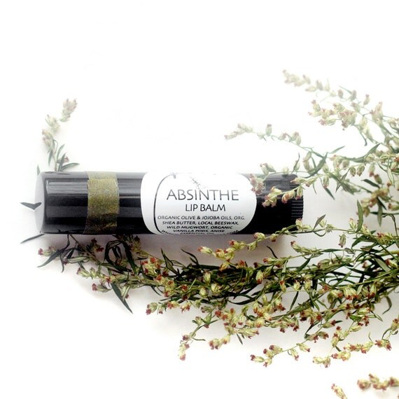Absinthe Lip Balm - organic lip moisturizer in a black recycled-plastic tube