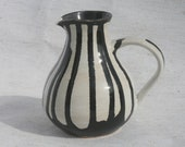 Black and White Serving Pitcher