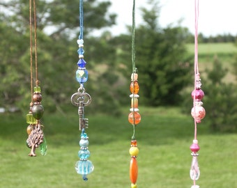 Beaded Bookmarks - beautiful, sparkling crystal, glass, silver, copper, and pewter beads and charms