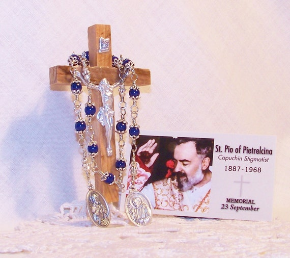 Unbreakable Traditional Relic Chaplet of St. Pio of Pietrelcina - Patron Saint of the Unborn, Expectant Mothers and Civil Defense Workers