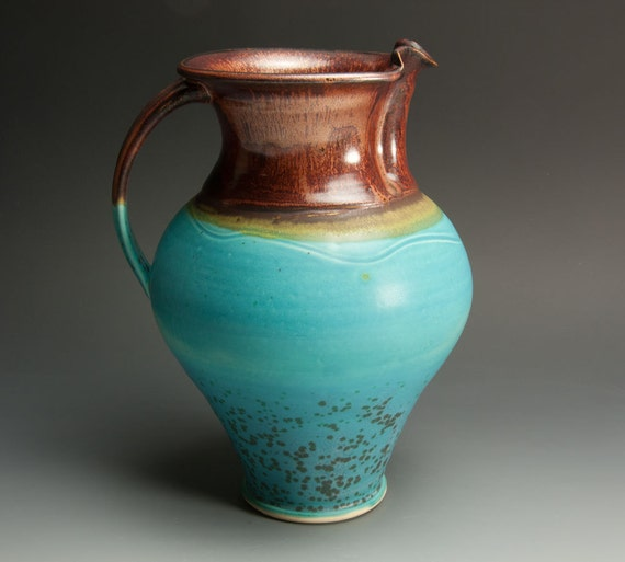 Sale - Second - handcrafted stoneware pitcher or vase 661