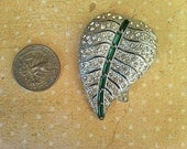 Vintage fall leaf brooch with Free Shipping