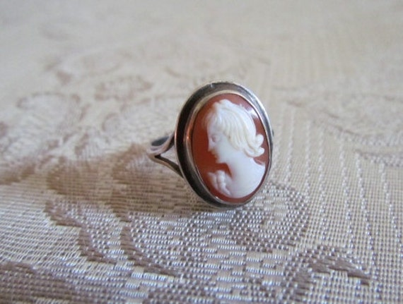 Antique Cameo Ring Edwardian c.1910