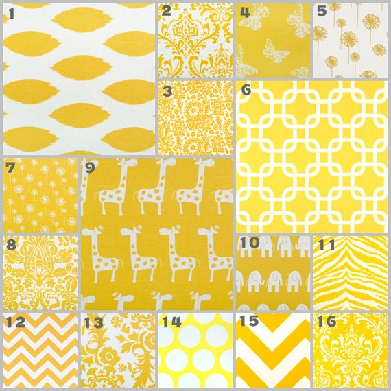 Modern Yellow (Modern Custom Crib Set)