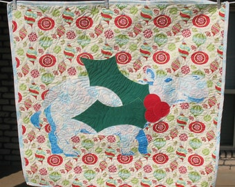 I Want A Hippopotamus For Christmas Quilted Wallhanging