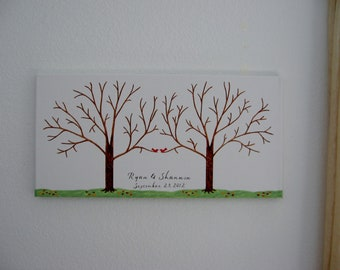 Wedding Guest Thumbprint Tree on Canvas with Ink Pads -  Custom Orders Only  - 125 - 150 Guests