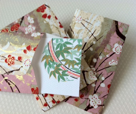 Mini Cards and Envelopes, Gift Enclosure, Gift Card Holder, Set of 10