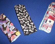Car Seat Shoulder Belt Strap Cozy, Butterflies or Dog Bones Print