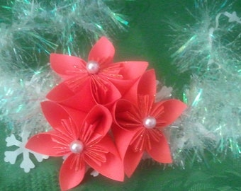 3D origami ornament flowers