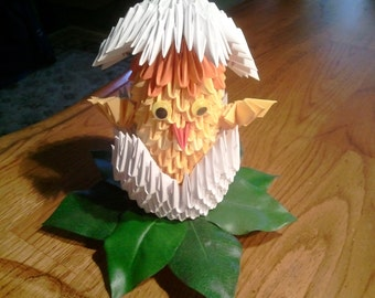3d origami Chick and Egg