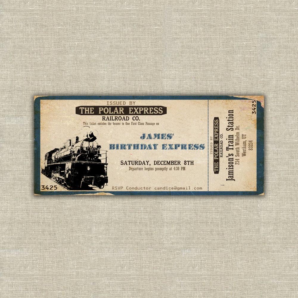 Printable polar express train ticket by AmysStationeryShoppe