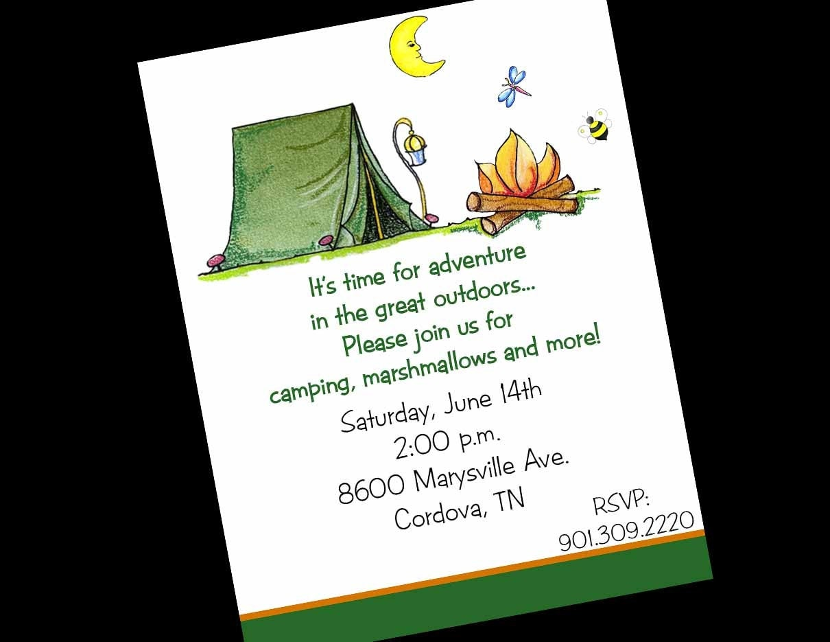 Camping Birthday Invitations Printable with awesome invitations design