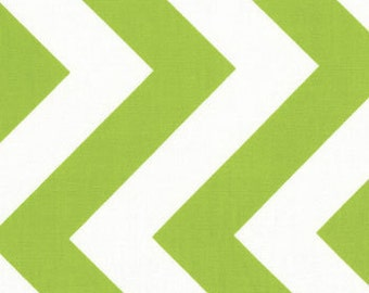 REMNANT! Lime Chevron from the Half Moon Modern Collection, by Moda, Remnant 1/4 yard