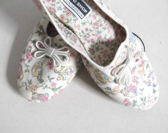 Vintage Tea Cup Slippers Lounge Shoes Daniel Green Top Shop Small Size