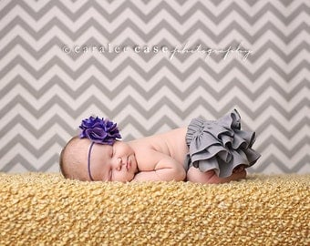 Gray ruffle bloomers diaper cover newborn preemie baby infant toddler girl