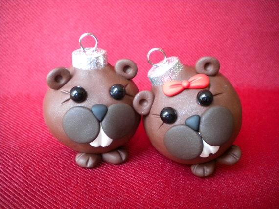 Beaver Christmas Decorations / Photo Holders