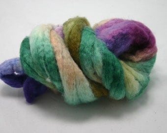 DYED roving, BFL wool- Wyoming collection: Wild flowers