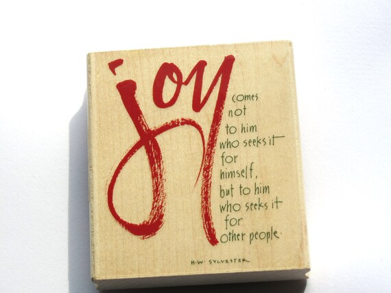 Joy Comes to Him Rubber Stamp from Inkadinkado  // Brand New