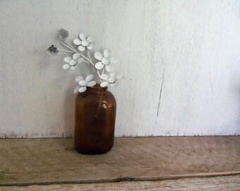 Vintage Amber Colored Bottle