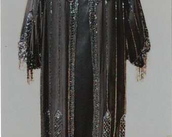 Specially Priced 1920s Art Deco Design Carnival Beaded Coat/Satin Slip Dress- Size 10/12  item 226 Coats