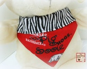 Dog Bandana- Razorback Fever  Sizes xs,sm or med
