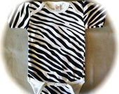 Cute Kids Baby Zebra Easter Onesie Black and White Stripes Animal Print Blank 0-3, 3-6, 6-12, 12-18 months - IN STOCK